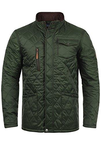 Blend Camilo Herren Steppjacke Übergangsjacke Jacke mit Stehkragen, Größe:L, Farbe:Duffel Bag Green (77019)