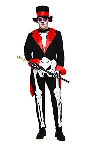 Disfraz de Da de los Muertos para Hombre