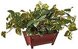 Près du Naturel Pothos Plante en Soie avec Pot décoratif