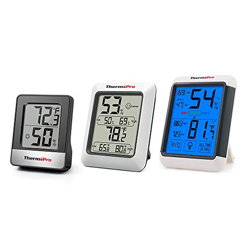 ThermoPro TP50NEW LCD Digital Thermo-Hygrometer Indoor Weather Thermometer...