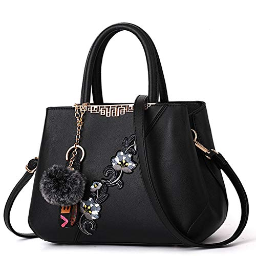 JLWS Embroidered Messenger Bags Women Leather Handbags Bags For Women Ladies Hand Bag Female Bag