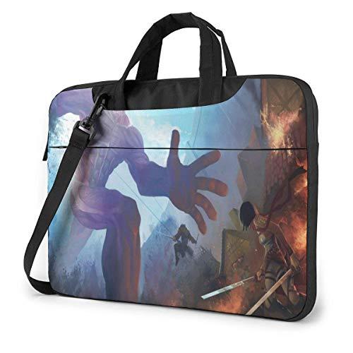 15.6 inch Laptop Shoulder Briefcase Messenger Attack on Titan Tablet Bussiness Carrying Handbag Case Sleeve