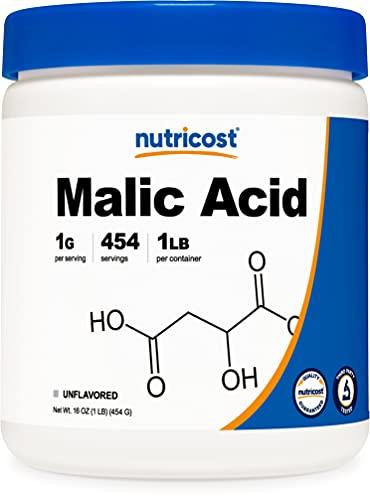 Nutricost Malic Acid Powder1LB - Gluten Free, Non-GMO (454 Grams)