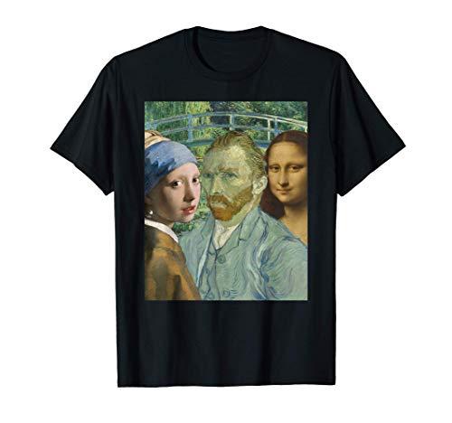 Arte popular Johannes Vermeer Leonardo Da Vinci Van Gogh's Camiseta