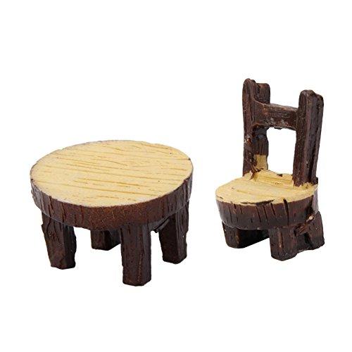 VI. Yo Fée Résine Décorations de Jardin Meubles Mini Chaise et Table pour Maison de poupée Micro Paysage Décorations de Jardin fée Décoration