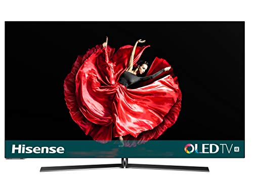 Hisense H55O8B - Smart TV OLED 55' 4K Ultra HD con Alexa Integrada, diseño ultra delgado, HDR Dolby Vision, Audio Dolby Atmos, Ultra Dimming, Smart TV VIDAA U 3.0 con IA, mando con micrófono
