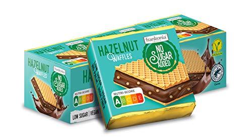 frankonia CHOCOLAT NO SUGAR ADDED Hazelnut Waffle Nutri Score A 9 stück, 175 g