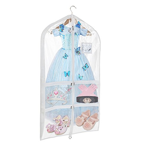 Univivi Clear PVC Dance Costume Bags Garment Bag 40 Inch for Dance...