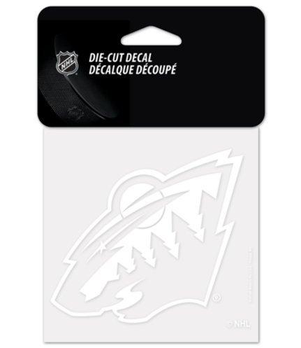"Wincraft NHL Minnesota Wild Hockey White 4""x4"" inch Vinyl Die-Cut Decal"
