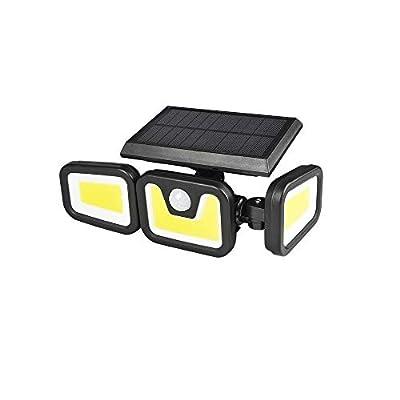 LED Solar Security Light with Motion Sensor Outdoor Wall Light, Flood Light 5000K White Color Waterproof /Rainproof, 1 Pack