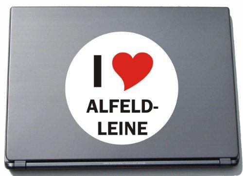I Love Aufkleber Decal Sticker Laptopaufkleber Laptopskin 297 mm mit Stadtname ALFELD-LEINE