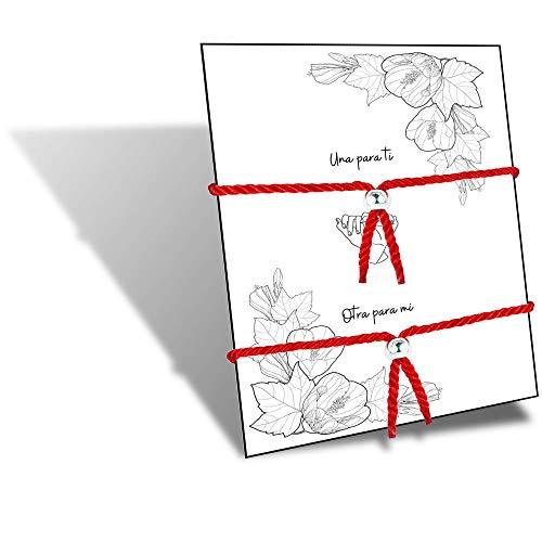 HAND-PRO Pulsera roja Mal de Ojo Pulsera Mal de Ojo roja Pulsera Hilo Trenzado Pulsera de la Suerte y protección Amuleto para el Mal de Ojo Pulsera Hilo Rojo
