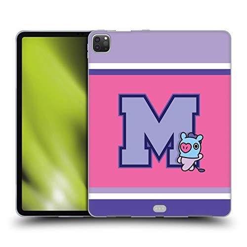 Official BT21 Line Friends MANG Wappen Sporty Soft Gel Case Compatible for Apple iPad Pro 12.9 (2020)