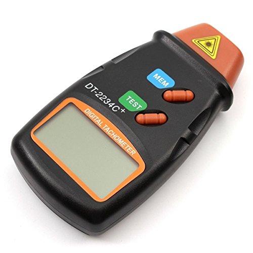 CITTATREND Digitale Tachimetro Laser Professionale Contagiri Automatico Scambio Schermo LCD con Batteria Resistente 6F22 9V Non Contatto RPM Tach