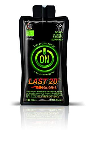 0n - Bio energy food Gel Énergétique Last 20 Fruits Exotiques 24 pièces de 30 ml