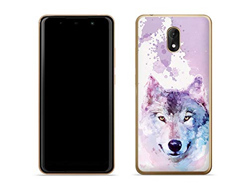 etuo Handyhülle für Wiko Lenny 5 - Hülle Fantastic Hülle - Traumwolf - Handyhülle Schutzhülle Etui Hülle Cover Tasche für Handy