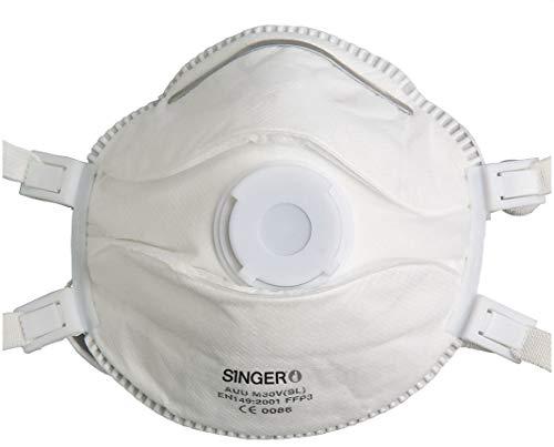 5 Singer FFP3 NR D Atemschutzmasken mit Ventil