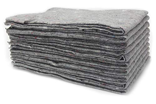 5 x Packdecken Möbelpackdecken ca 300g/m² - grau, 130x190cm Made in Germany Strapazierfähige Umzugsdecken Möbeldecken Recycling-Material Transport Decken Allzweckdecken