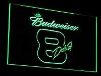 Budweiser 8 Dale Jr. LED看板 ネオンサイン ライト 電飾 広告用標識 W60cm x H40cm グリーン