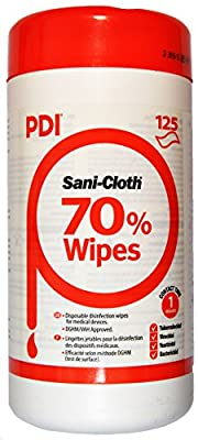 PDI Sani-Cloth 70 Alcohol Wipes in Canister x 125 from Shermond