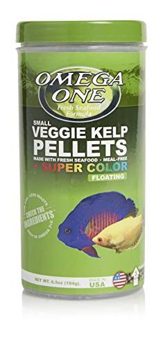 Omega One Super Color Veggie Kelp 3mm Floating Pellets, 6.5 oz Container