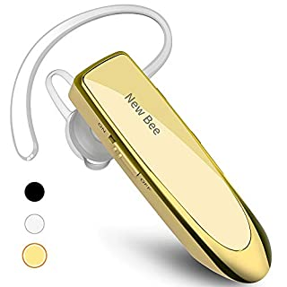 New bee Bluetooth Earpiece V5.0 Wireless Handsfree Headset 24 Hrs Driving Headset 60 Days Standby Time with Noise Cancelling Mic Headsetcase for iPhone Android Samsung Laptop Truck Driver, Gold (B0736R9BM2) | Amazon price tracker / tracking, Amazon price history charts, Amazon price watches, Amazon price drop alerts
