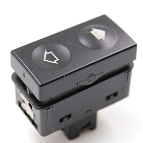 Perilla del botón del Interruptor Ventana Interruptor de Encendido/Ajuste for BMW E36 318i 318is 325i 325is 1991-98 61311387387 (Color : Black)