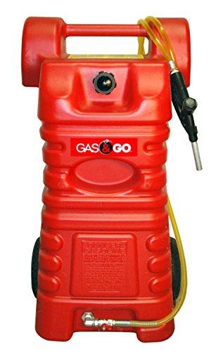 Gas & Go 25 Gallon Portable Poly Gas Can Caddy Gasoline Storage Tank