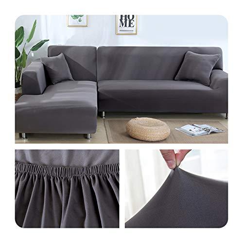 ZaHome Funda elástica de sofá para sala de estar, esquina en U, funda de sofá todo incluido, fundas de sofá en forma de L necesitan comprar 2 piezas, 023-1 plaza (90-140 cm)