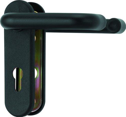 ABUS Beschlag KFG schwarz für Feuerschutztüren mit beidseitigem Drücker rund 27977