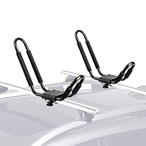 N/Y Portapacchi Universale per Kayak per Auto, Porta-Barra antiruggine Porta-Kayak, Supporto AntiGraffio per Canoa da Surf per Barche da Sci su Barra SUV da Tetto per Auto (Una Coppia)