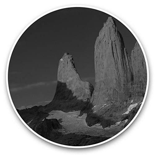 Fantastici adesivi in vinile (set di 2) 20 cm (bw) – Torri Patagonia Sunrise Chile divertenti decalcomanie per computer portatili, tablet, bagagli, prenotazione di rottami, frigoriferi, regalo cool #35693