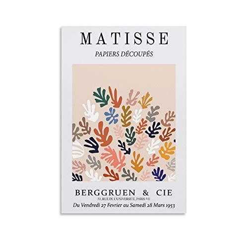 caonidaye Henri Matisse Winter-Kunstdruck, Poster, ästhetisches Poster, dekoratives Gemälde, Leinwand, Wandkunst, Wohnzimmer, Poster, Schlafzimmer, Malerei, 60 x 90 cm