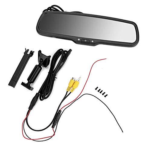 DEWIN Monitor Specchietto Retrovisore - Monitor per Specchietto Retrovisore Monitor con oscuramento Automatico dello specchietto retrovisore per Auto da 4,3 Pollici con Staffa (Nero)