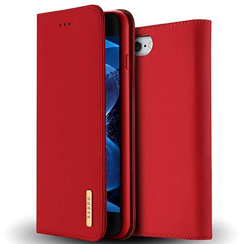 Radoo iPhone 6S Lederhülle,iPhone 6 Hülle, Premium Echtes Leder Klapphülle Slim Lederhülle TPU Innenraum Case Schlanke Ledertasche Handyhülle für Apple iPhone 6S/iPhone 6 4.7