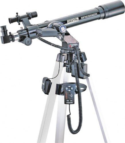 Bresser DS/EC 60/700 Refraktor (60mm Durchmesser Frontlinse, 700mm Brennweite, f/11,7 Öffnungsverhältnis)