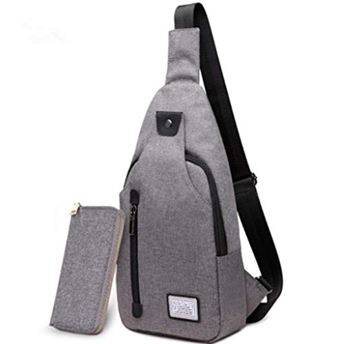 ZSY Stylish Versatile Canvas Sling Bag With Blocking Anti-Theft Pocket And Padded Breathable Strap Zippers, Lightweight Travel Backpack