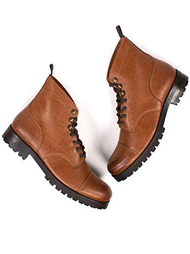 Will's Vegan Shoes Botas de trabajo para mujer Tan, color Marrón, talla 39 EU Schmal