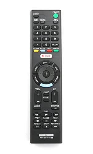 New RMT-TX102U Replaced Remote fit for Sony TV KDL-32R500C KDL-40R510C KDL-40R530C KDL-40R550C KDL-48R510C KDL-48R530C KDL-48R550C 149298011 KDL40R550C KDL48R510C KDL-48W650D KDL-40W650D KDL-32W600D
