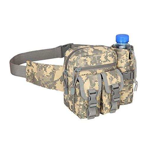 Botella de agua t�ctica cintura Pack, impermeable militar cintura cintur�n utilidad ri�onera bolsa de botella de agua para bicicleta de trekking senderismo escalada ciclismo, delete