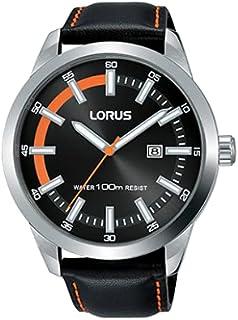 ساعة بسوار جلدي رياضي للرجال من لوروس، RH955JX9