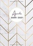 Agenda 2020-21: Agenda 18 mois journalier 2020-21 - format A5 - juillet 2020 à décembre 2021, motif abstrait marbre