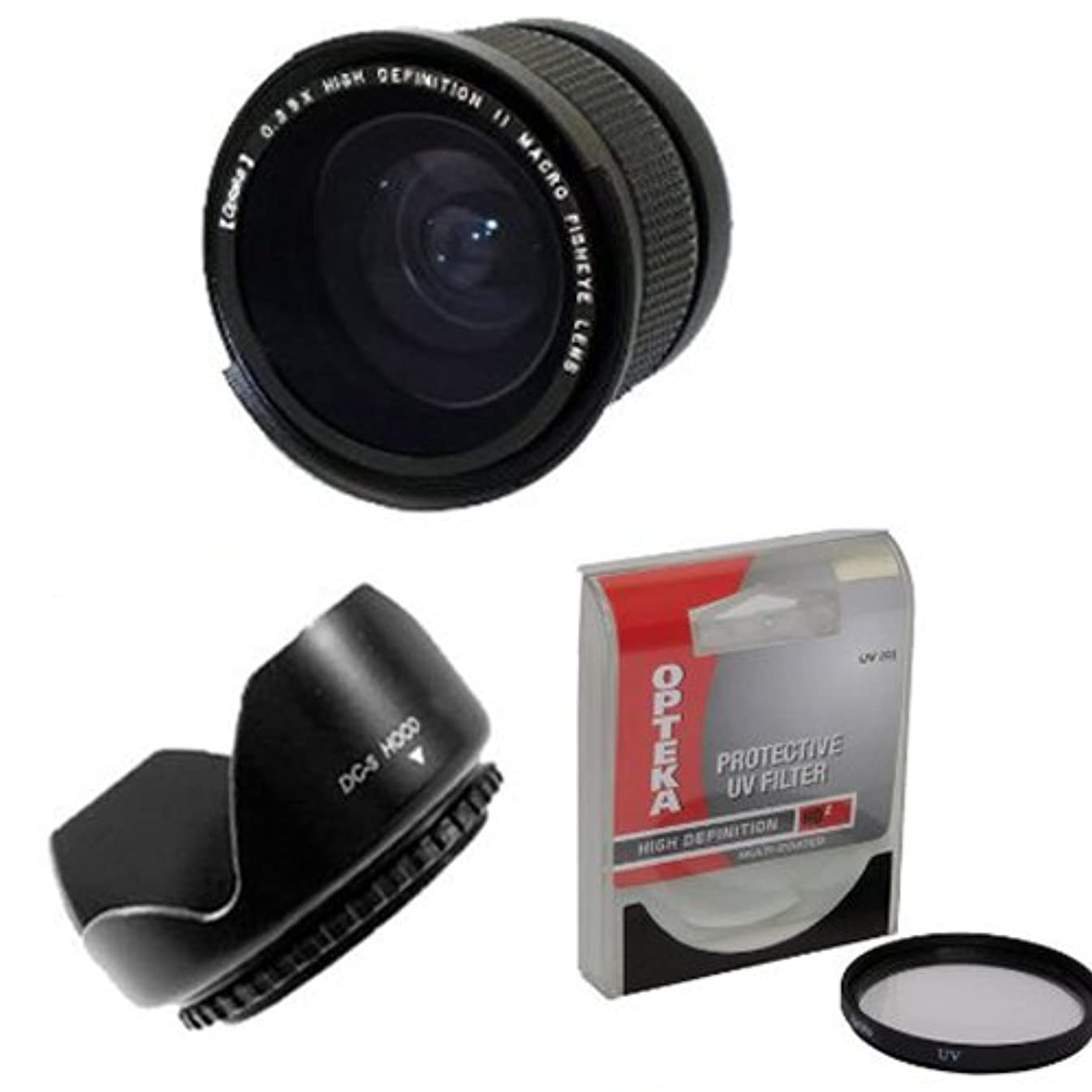 Opteka .35x High Definition II Super Wide Angle Panoramic Macro Fisheye Lens for Canon PowerShot SX40 HS SX30 SX20 SX10 SX1 Digital Camera With Bonus 67MM High Definition II UV (0) Ultra Violet Haze Multi-Coated Glass Filter Includes Special FA-DC67A 67MM Adapter Ring Photo Print !