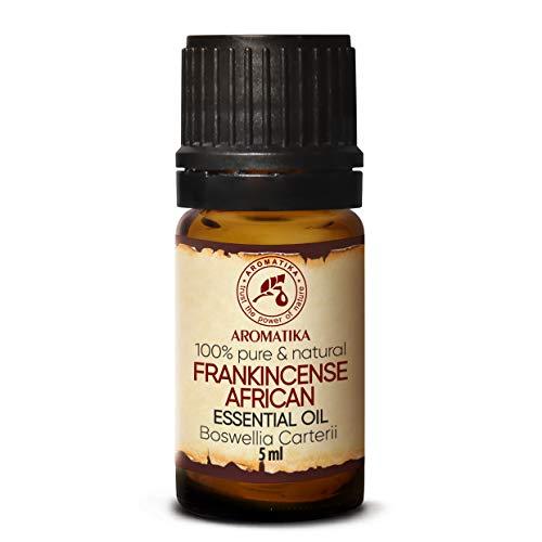 Aceite Esencial de Incienso 5ml - Boswellia Carterii - Africano - 100% Puro - Cuidado del Cuerpo & Piel - Aromaterapia - Difusor de Aroma - Lámpara de Fragancia - Fragancia de Habitación