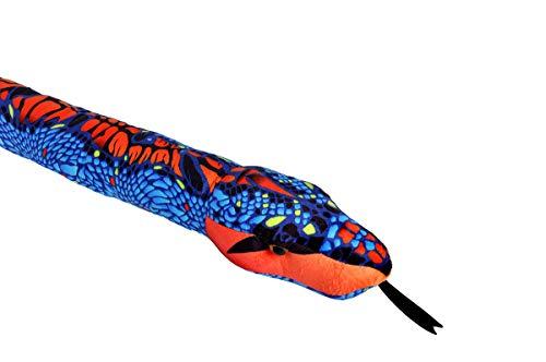 Wild Republic 23524 Plüsch Schlange blau-orange, Snakesss Kuscheltier, 137 cm, Multi