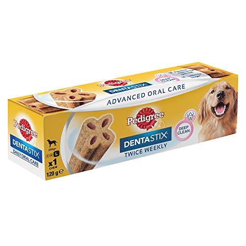 Pedigree Dentastix Advanced  Large Breed (25 kg+) Oral Care Dog Treat (Chew Sticks)  120g Sticks