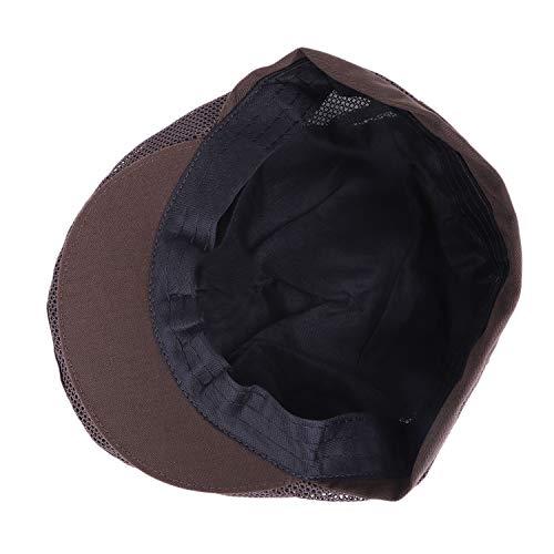 JIAHG Damen Herren Kochmütze Baskenmütze Mesh Kochen Bäcker Mütze Hut Cap Kappe Schiebemütze Koch Arbeitskleidung chef hat - 5
