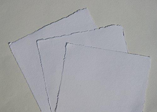 3 Pakete a 10 Bogen = 3x10 Bogen handgeschöpftes Büttenpapier Aquarellpapier A4 =3x10 Bogen/Set weiß 200g/m² BaumwollLinters