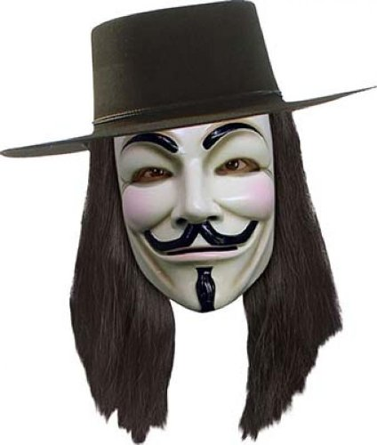 Deguisement-discount - Perruque v pour vendetta (anonymous)