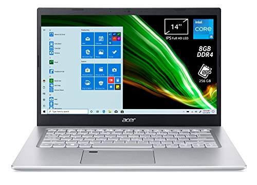 "Acer Aspire 5 A514-54-57E7 Pc Portatile, Notebook, Processore Intel Core i5-1135G7, Ram 8 GB DDR4, 256 GB PCIe NVMe SSD, Display 14"" FHD IPS LED LCD, Intel Iris Xe, Windows 10 Home, Spessore 17,95mm"